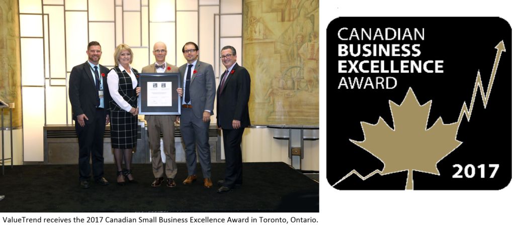 ValueTrend wins Canadian Business Excellence Award
