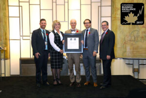 VaueTrend receives the 2017 Canadian Small Business Excellence Award in Toronto, Ontario